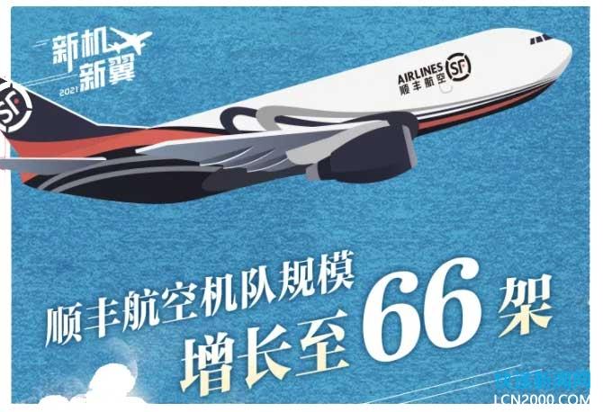 顺丰航空全货机增至66架